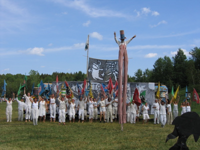 Bread & Puppet Victory Circus finale
