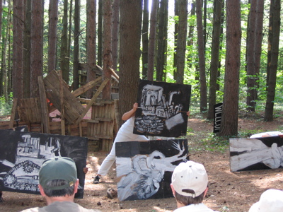 Bread & Puppet Victory Circus pine forest 01