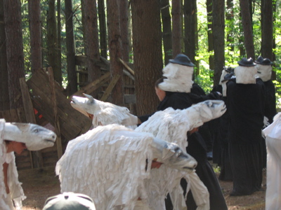 Bread & Puppet Victory Circus pine forest 02