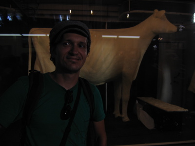 the butter cow at Iowa State Fair