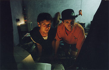 DJs Pod & HappyFt in the 2000 SoundLab, Studio F