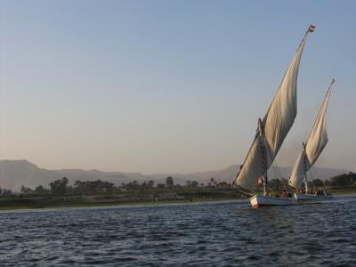 Feluccas in Luxor