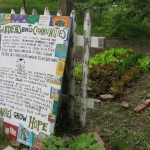 Trumbull's green and tasty garden, with nice community sign (Detroit)