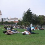 Dolores Park has become the hang out in recent years. Now the locals living nearby want to curb the excessive good times. This brings up the natural question: who controls public space and what goes on in it?