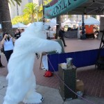 Polar Bear tossing out Fossil Fuels at 350 Rally