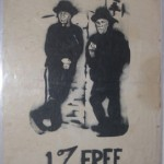 "Vince just purchased this original SF Digger 1% FREE poster. I have been told that this poster was stenciled, so I will finally get to inspect one to see! The ""1%"" term was a patch that Hells Angels wore to show that they were the 1% of Harley riders who weren't law-abiding citizens."